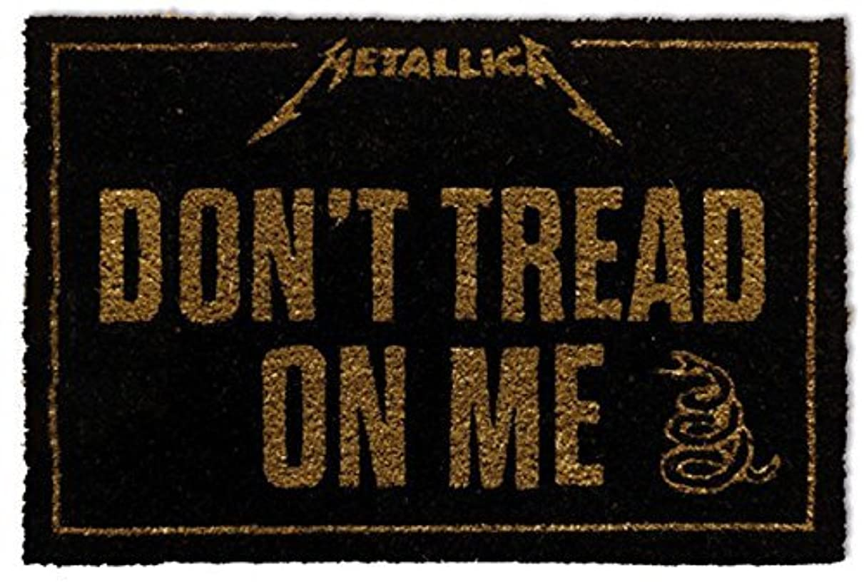 夢中中絶しがみつく1art1 Metallica Door Mat Floor Mat - Don't Tread On Me (24 x 16 inches) [並行輸入品]