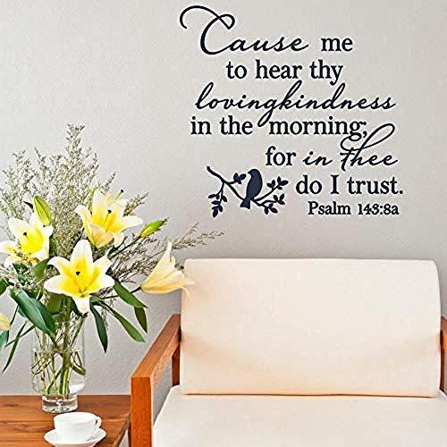 Adhesivo de pared Salmo 143-8 Versículos de la Biblia Pegatinas de pa