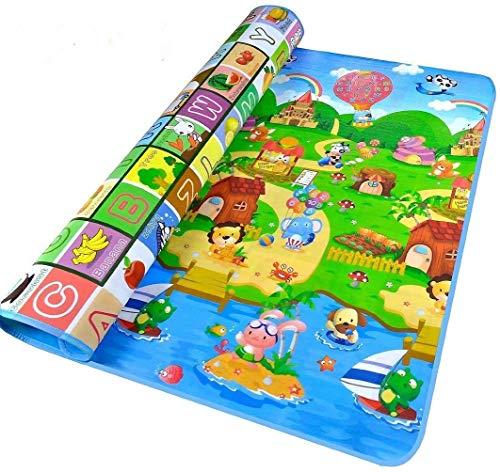 Tapis de Jeux Enfant, 200x180cm Tapis de jeu pour Bébé Enfant Tapis d