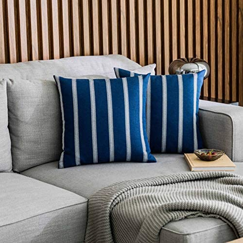 Home Brilliant Navy Blue Pillow Covers Decor Accent Decorative Throw Pillows Covers Cushion product image
