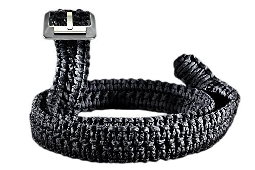 RattlerStrap Preparedness Belt - 550 Paracord Survival Strap - Titanium...