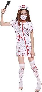Women's Horror Bloody Ghost Nurse Costume Zombie Halloween Party Cosplay