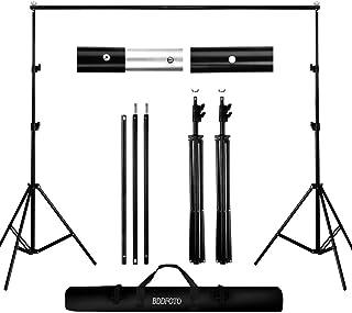 BDDFOTO Kit de Soporte de Estante de Fondo Ajustable, 2x2metros Soporte de Fondo para Retrato de Estudio, fotografía de Pr...