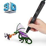 3D Druckerstift | 2017 Upgrade | Blusmart Intelligenter 3D Pen 3D Stift LED Bildschirm mit Stiftenhalter und Filamente für Malerei Schöpfung und Doodling, Großes Geschenk für Kinder / Malerei-Liebhabe