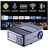 Proyector 4K WiFi Bluetooth Artlii Play3, Proyector Android TV10 340ANSI, 1080P Nativo,Asistente de Voz de Google,Soporte AC-3,Corrección Keystone 4D de ± 45 ° y Zoom