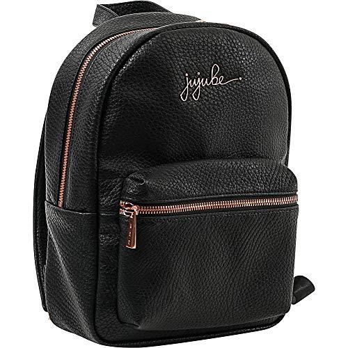 JuJuBe Unisex Backpack Mini-Rucksack Ever aus veganem Leder, Noir Rose Gold, einheitsgröße