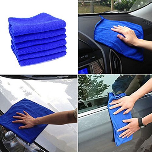 6PCS Multifunctional Blue Absorbent Wash Cloth Car Household Sofa Auto Care Microfiber Cleaning Towels 30*70CM