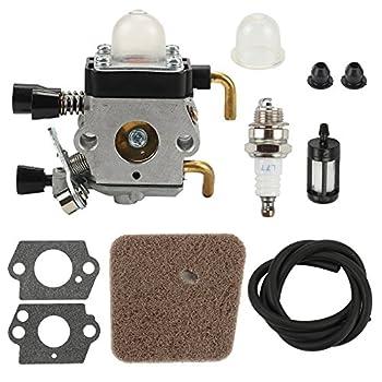 Buckbock C1Q-S97 Carburetor with Fuel Line Air Filter for HS45 Hedge Trimmer FC55 FC75 FC85 FS310 FS38 FS45 FS45C FS45L FS46 FS80 C1Q-S169B Carb