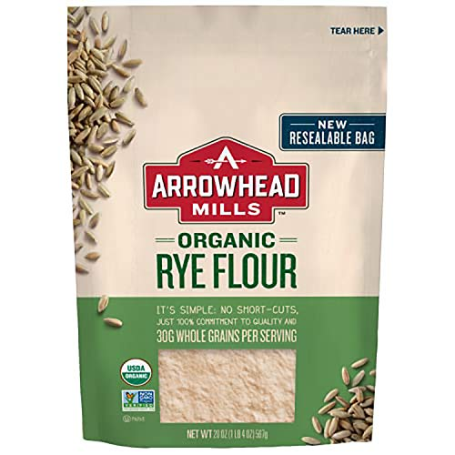 Arrowhead Mills Organic Rye Flour, 20 Ounce Bag (Pack of 6)