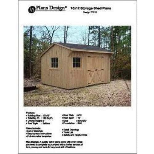 10 X 12 Saltbox Style Storage Shed Project Plans Design