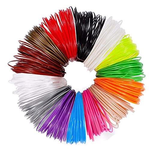 Impresora 3D 3D pluma recargas de alta temperatura 1.75mm PLA 3D impresora filamento recargas de diversos colores 12PCS