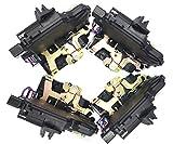 HZTWFC 4 piezas frontal izquierda derecha y trasera izquierda derecha puerta cerradura accionadores pestillo OEM # 3B1837015A 3B1837016A 3B4839015A 3B4839016A