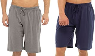 Tom Franks Twin Pack Cotton Jersey Lounge Shorts Grey Black XX-Large,XX-Large,Grey Black