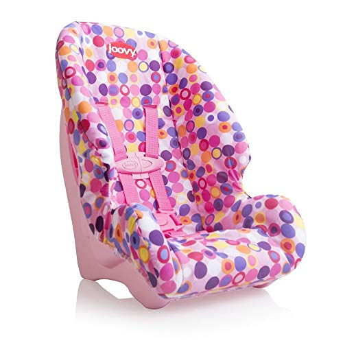 Joovy Toy Booster Seat, Doll Accesory, Multi-doll Design, Pink Dot