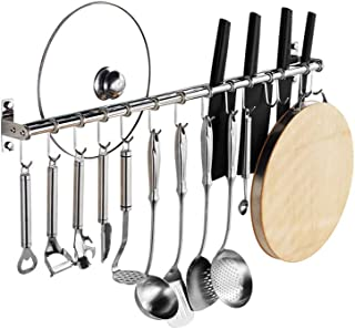 Kitchen hook holder/stainless steel hanging spoon holder Pot rack Practical kitchen tool holder