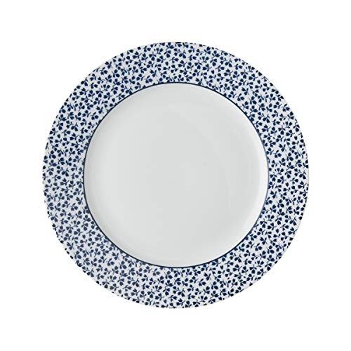 Laura Ashley - Platos, platos de postre – Blueprint Floris – 20 cm de diámetro.