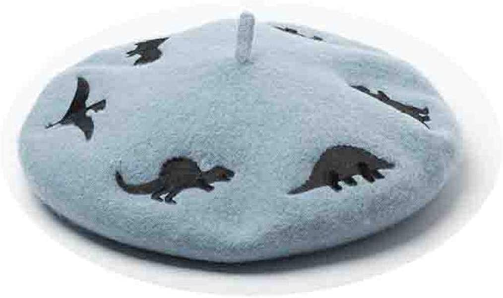 Cute Animal Pattern Beret for Women Warm Comfort Octagonal Cap Fall Winter Dating Working Artist Hat