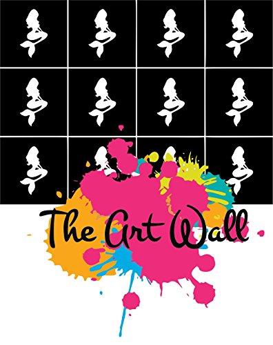 Mermaid Nail Stencils Stickers Vinyl Nail Art/Nail Deco/ Airbrush