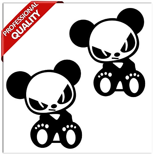 SkinoEu® 2 stuks vinyl sticker autosticker panda bear stickers auto motorfiets fiets raam tuning B 242