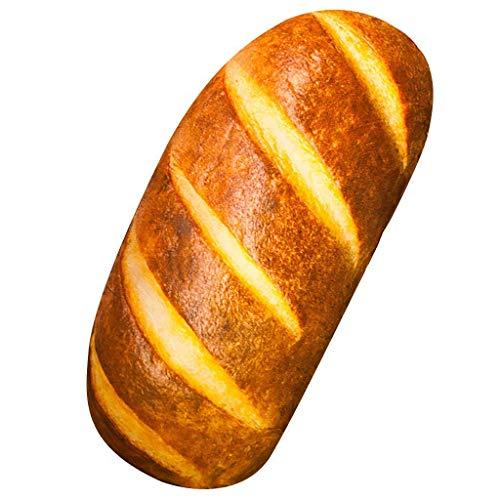 Gecter Funny 3D Simulation Bread Shape Pillow Soft Lumbar Back Cushion Plush...