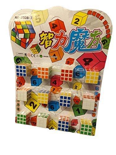 Fat-catz-copy-catz 12x Unique Boys Girls puzzle cube magic square game toys Gift Loot Bag Party Fillers Pass the Parcel Pinata Toys