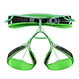 KAILAS Tabary Ultralight Harness for Sport Climbing, Technical Climbing and Ice Climbing(Black/Neon Green,S)