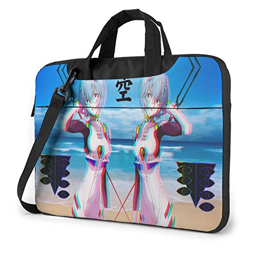 14 Inch Laptop Sleeve Bag, Neon Genesis Evangelion Tablet Briefcase Ultra Portable Protective Shoulder Shockproof Laptop Sleeve Case Bag Cover MacBook Air