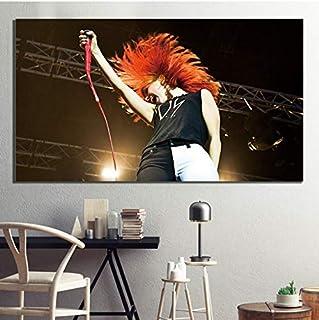 MXIBUN Cartel e Impresiones Paramore Rock Band Star Cuadro de Arte de Pared Lienzo Pintura Regalo sin Marco 50 * 80 cm