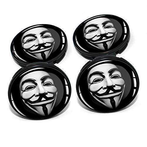 Finest Folia - Juego de 4 tapacubos de 60 mm de diámetro para llantas de coche, tuning, accesorios DM006 (n.º 17 Anonymous)