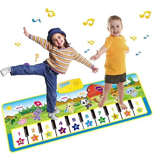 PROACC Klavier Playmat große Größe (39 * 14 Zoll) Kinder Klaviertastatur Musik Playmat Spielzeug, lustige Tanzmatte für Babys Kleinkind Jungen und Mädchen Geschenk