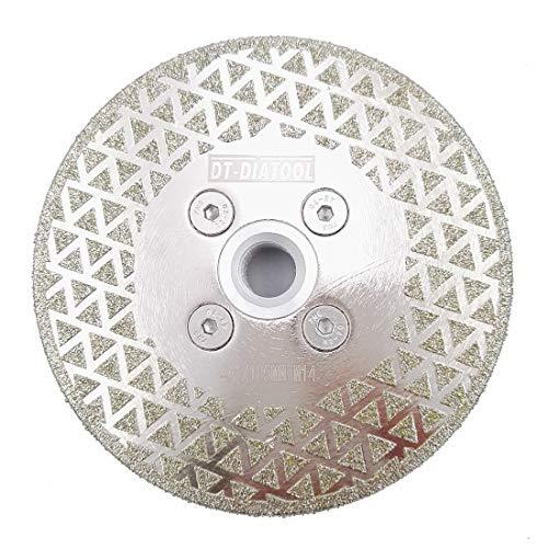 DT-DIATOOL Disco Diamantato per Taglio e Smerigliatura 105 mm x M14 Lama per Sega Elettrolitica per Piastrelle Granito Marmo Pietra