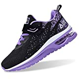 PERSOUL Air Shoes for Boys Girls Kids Children Tennis Sports Athletic Gym Running Sneakers (Violet Size 4 Child)