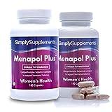 Menapol Plus - Con mirtillo rosso, trifoglio rosso e isoflavoni di soia - 360 capsule - 6 mesi di trattamento - SimplySupplements