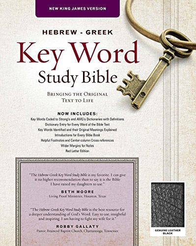 The Hebrew-Greek Key Word Study Bible: NKJV Edition, Black Genuine Leather (Key Word Study Bibles)