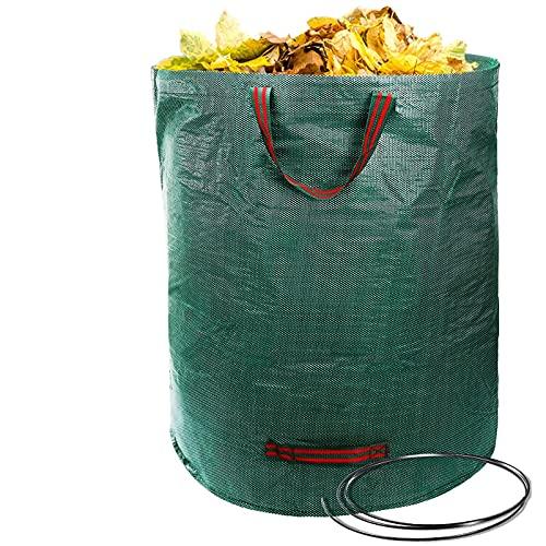 Giovara - Grands sacs de jardin imperméables très résistants de 120 L avec des poignées - Pliables et réutilisables