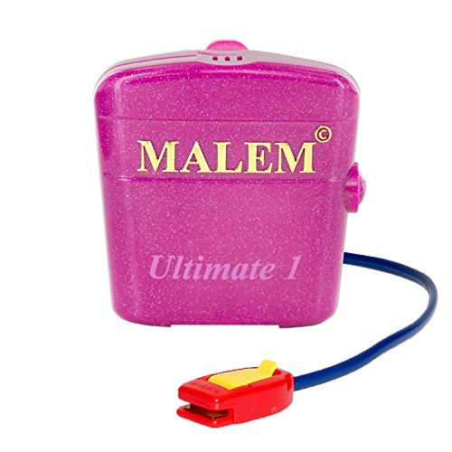 bedwetting alarms Malem Ultimate PRO Pink Bedwetting Alarm for Girls & Boys with Loud Sound and Strong Vibration to Stop Bed Wetting
