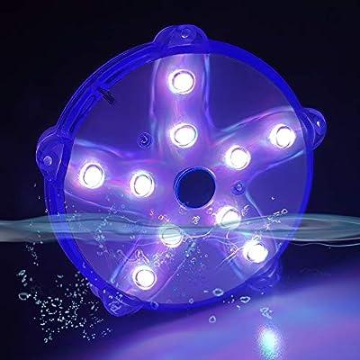 "Blufree 3.3"" LED Floating Pool Lights, IP68 Waterproof Color Changing Pond Light."