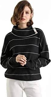 Panreddy Women's Turtleneck Knit Pullover Sweater
