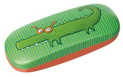 sigikid, Mädchen und Jungen, Brillenetui Krokodil, Grün/Orange, 24846