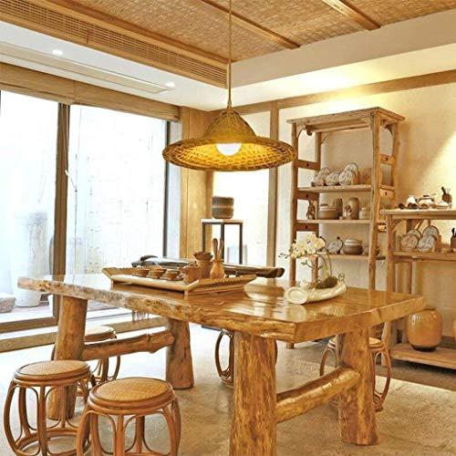 JI Gyy Home Hotel Verlichting Exquise kroonluchter, creatieve persoonlijkheid Hotpot restaurant bamboe kroonluchter slaapkamer woonkamer balkon tuin rotan lamp E27