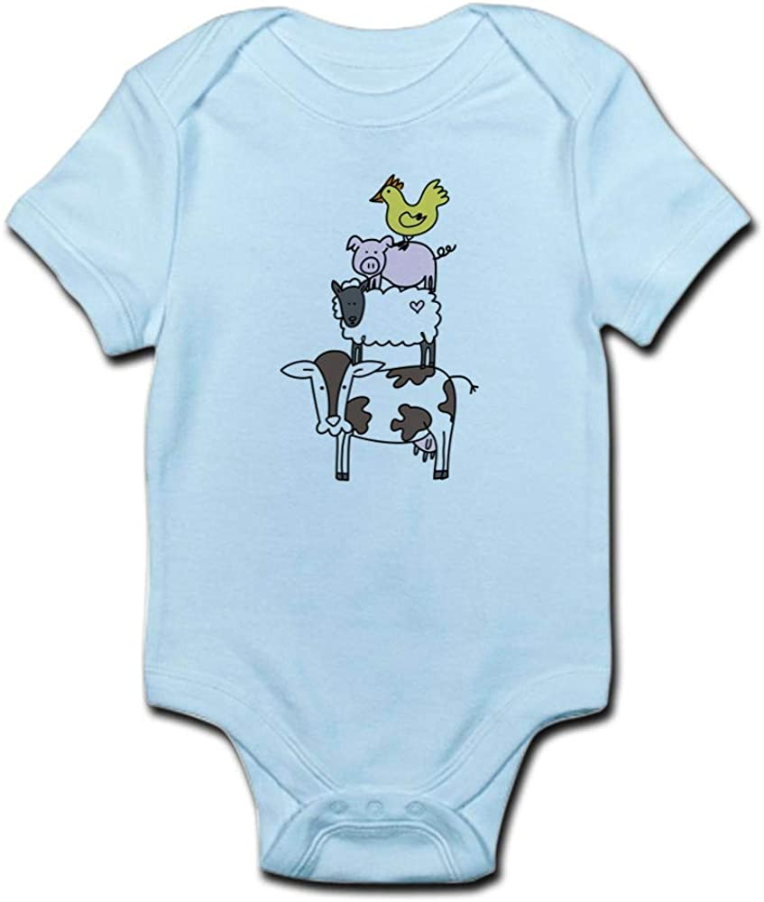 CafePress Farm Pyramid Cute Infant Bodysuit Baby Romper
