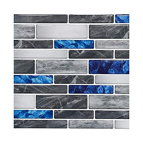 20 PCS 3D Crystal Tile Stickers Waterproof Self-Adhesive DIY Wall Stickers Suitable for Home Decoration Kitchen Bathroom Living Room Bedroom Wall Stickers Decoration (A)