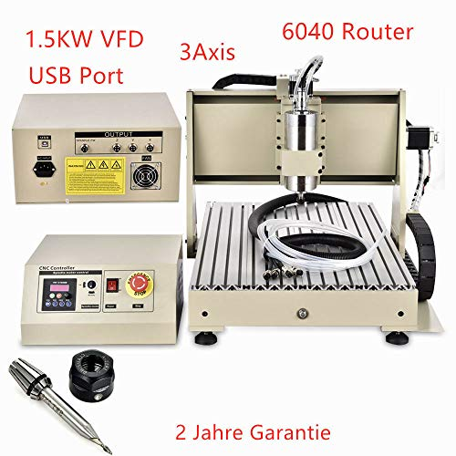 6040 USB 1,5 KW 3 as 3D CNC router graveermachine boren frees freesmachine Engraver 1500 W werkbereik: 600 (Y) * 390 (X) * 120 (Z) mm