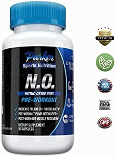 Nitric Oxide Booster Recovery Supplement by Parker Naturals: Muscle Growth, Immune System & Blood Flow - 90 Capsules