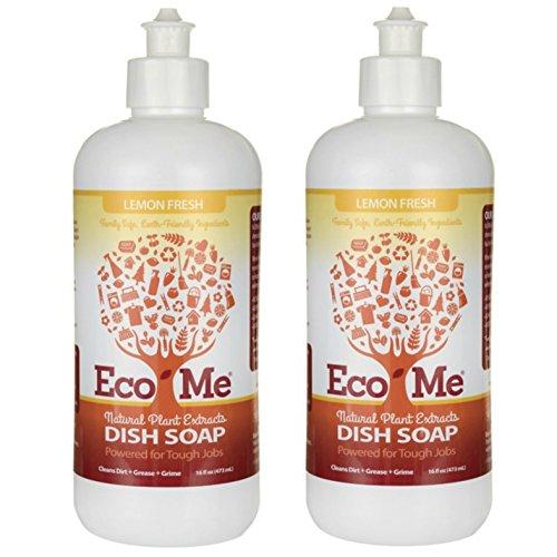 Eco-me - Lemon Fresh Dish Soap 16 oz (2 Pack, Lemon Fresh)