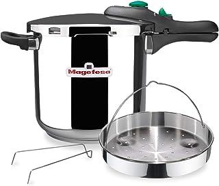 comprar comparacion MAGEFESA Dynamic Olla a presión Super rápida de fácil Uso, Acero Inoxidable 18/10, Apta para Todo Tipo de cocinas, Incluid...