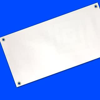 2x8 Ft Blank Vinyl Banner White Sign