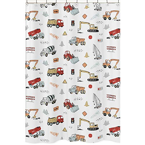 Sweet Jojo Designs Construction Truck Bathroom Fabric Bath...