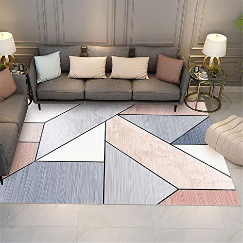 Alfombra habitación Infantil Alfombra Gris Rosada Sala de Estar decoración Color geométrico a Juego alfombras para Salon alfombras pie de Cama 40X60CM 1ft 3.7' X1ft 11.6'