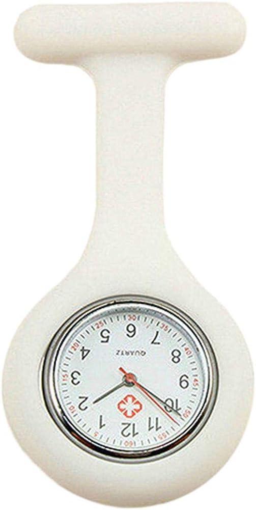 Cute Max 85% OFF Silicone Nurse Watch Brooch Quartz low-pricing Tunic Fob Movemen Pocket